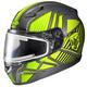 Gray/Hi-Viz/Black CL-17SN MC-3H Redline Helmet w/Frameless Electric Shield
