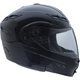 Black GM54S Modular Snowmobile Helmet with Dual Lens Shield