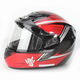 Red/Black/Silver CS-R2SN MC-1 Seca Helmet with Framed Dual Lens Shield