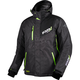 Black Heather/Electric Lime Recoil Jacket