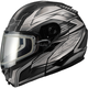 Matte Black/Dark Silver GM64S Carbide Modular Snowmobile Helmet with Dual Lens Shield