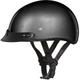 Gunmetal Gray Metallic Skull Cap Half Helmet w/Visor