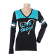 Womens Teal Varsity Long Sleeve T-Shirt