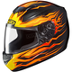 Black/Orange/Yellow CS-R2 Flame Block MC-7 Helmet