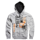 Grey Evanite Sherpa Zip Hoody