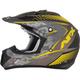 Frost Gray/Hi Vis Yellow FX-17 Matte Factor Helmet