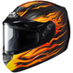 Black/Orange/Yellow CS-R2SN MC-2 Flame Block Helmet With Dual Lens Shield