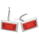 LED Style Marker Light w/Red Lens - 0814R-LED-2