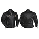 Black Gangster Leather Jacket