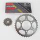 Quick Acceleration 520GXW Chain Kit w/Lightweight Steel Sprockets - 2108-088S