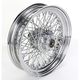 16 in. x 3.50 in. Chrome 80-Spoke Rear Wheel Assembly w/Round Spokes - 06-181