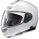 Metal White N104 Evo Classic N-Com Modular Helmet