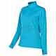 Womens Scuba Blue Elevation Zip Shirt (Non-Current)