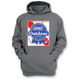 Gray Blue Ribbon Pullover Hoody