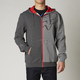 Heather Graphite Enigma Zip Hoody