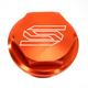 Orange Rear Brake Reservoir Cover - 5901