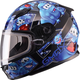 Youth Black/Blue GM49Y Attack Snowmobile Helmet