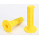 Yellow Half Waffle MX Single-Ply Grips - H01RFY