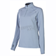 Womens Gray Elevation Zip Shirt (Non-Current)