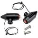 Semi-Gloss Black Vega LED Side Rail Turn Signals w/ Red Lens - 05-57-RB