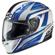 Ace FG-17 White/Blue/Black Helmet