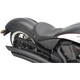 Black Smooth Low-Profile Solo Seat - 0810-1599