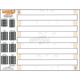 Studding Template for 2.86 Pitch Two-Ply Tracks - 286T-TEMP