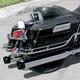 4 in. Chrome Tru Power Slip-On Mufflers W/Black Tips - LA-1094-02B