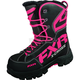 Womens Black/Fuchsia X Cross Boots