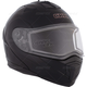 Matte Black Tranz 1.5 RSV Modular Snow Helmet w/Electric Shield