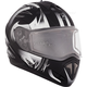 Matte Black/White Tranz RSV Blast Modular Snow Helmet w/Electric Shield