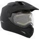 Matte Black Quest Snow Helmet w/Electric Shield