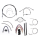 Black Pearl Designer Series Handlebar Installation Kit for Use w/15 in. - 17 in. Ape Hangers (Non-ABS) - 487192