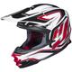 White/Black/Red MC-1 FG-X Hammer Helmet