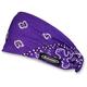 Purple/White Paisley Mini Doo-Z Headwrap - DZ02-223