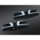 Black/Silver Bahn Rocker Cover Accents - 6920