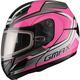 Pink/Silver GM44S Glacier Modular Snowmobile Helmet