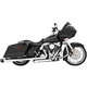 Chrome Combat Slip-On Mufflers with Black Tips - HD00411