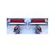Red LED Light Bar with Chrome Base-3.25 in. - 02043