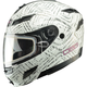 White Divas Snow Gear DSG GM54S Aztec Modular Snowmobile Helmet