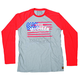 Gray/Red McQueen Americana Long Sleeve T-Shirt