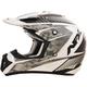 Pearl White/Silver FX-17 Factor Helmet