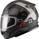 Youth Flat Black/OD Green GM49Y Trooper Snowmobile Helmet