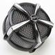Black/Chrome Hi-Five Mach 2 Air Cleaner Only - 9514
