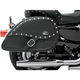 Desperado Rigid-Mount Specific-Fit Teardrop Saddlebags w/Integrated LED Auxiliary Lights - 3501-0486-LES