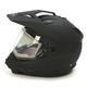 Matte Black GM11S Snow Sport Snowmobile Helmet With Electric Shield