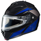 Black/Blue/Silver IS-MAX 2 MC-2 Elemental Snowmobile Helmet w/Electric Shield