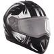 Matte Black/White Tranz Blast Mat RSV Modular Snow Helmet