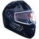 Matte Black Tranz RSV Blast Modular Snow Helmet w/Electric Shield
