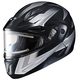 Black/Gray/White CL-Max 2 Ridge Helmet w/Electric Shield